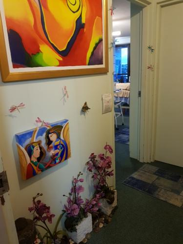 Studio entrance foyer to treatment space